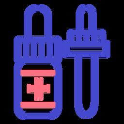 Icono de trazo de medicina