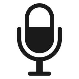 Icono de micrófono negro