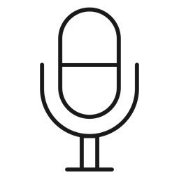 Microphone icon stroke