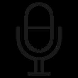 Trazo de icono de micrófono