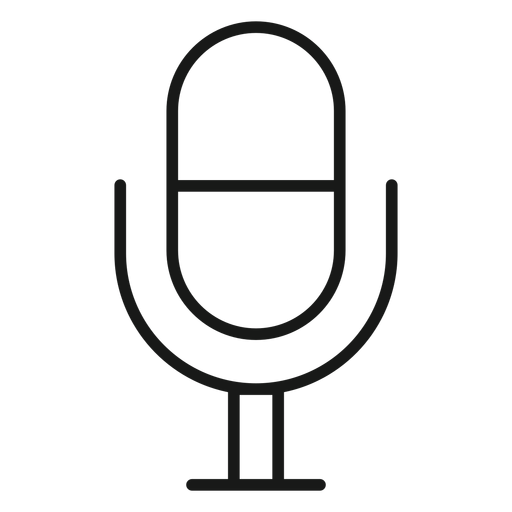 Microphone icon stroke Transparent PNG