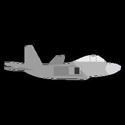 Ilustração de avião militar