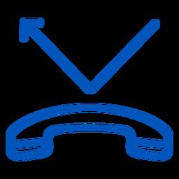 Ícone de traço de chamada perdida