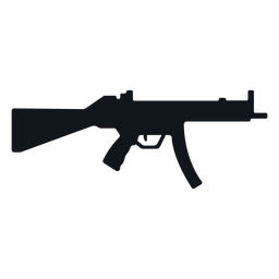 Mp5 machine gun silhouette