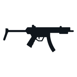 Mp5 sub ametralladora silueta