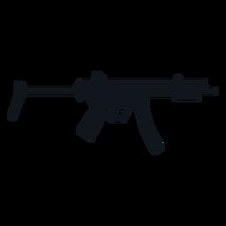 Silhueta de metralhadora MP5 sub
