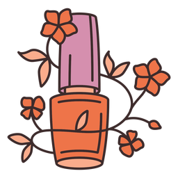 Nail polish floral illustration