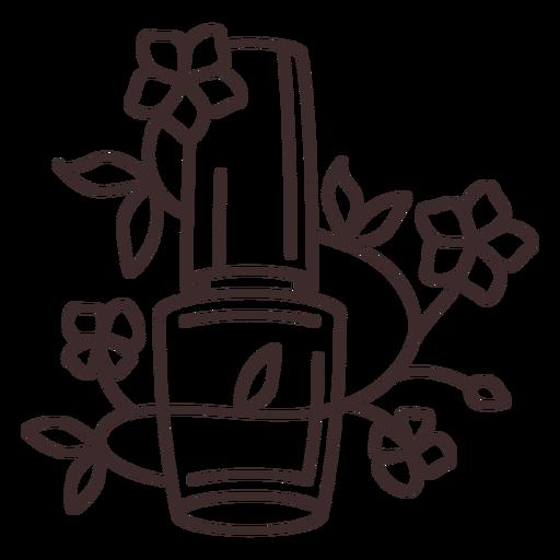 Trazo floral de esmalte de u?as