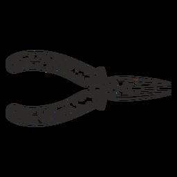 Alicates de punta de aguja dibujados a mano