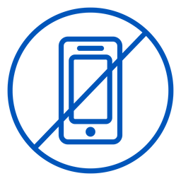 No cellphone stroke icon