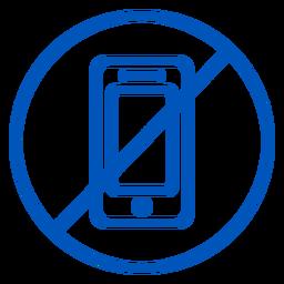 Sin icono de trazo de teléfono celular