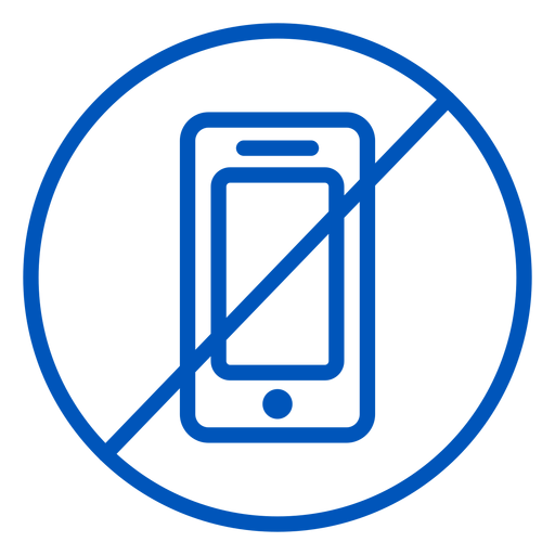 No cellphone stroke icon Transparent PNG