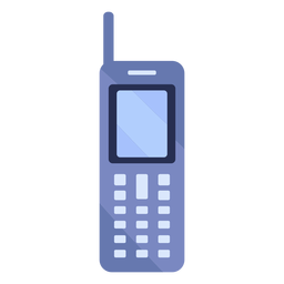 Ilustração de antena de celular antigo