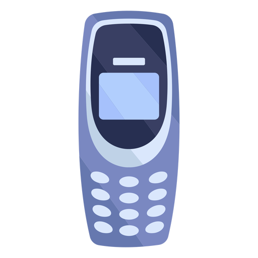 Old cellphone flat Transparent PNG