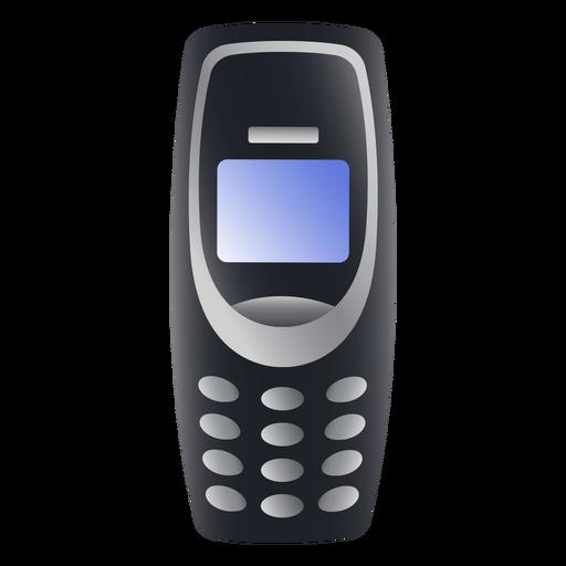 Ilustración de teléfono móvil antiguo