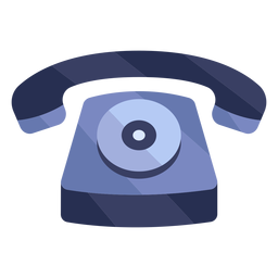 Telefone vermelho velho plana