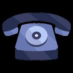 Viejo teléfono rojo plano