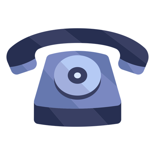 Old red telephone flat Transparent PNG