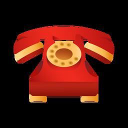 Ilustración de teléfono rojo antiguo