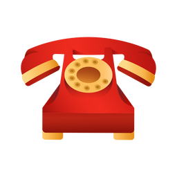 Old red telephone illustration