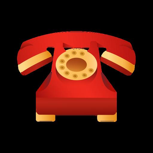 Ilustración de teléfono rojo antiguo Transparent PNG
