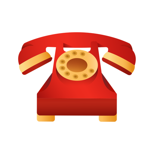 Old red telephone illustration Transparent PNG