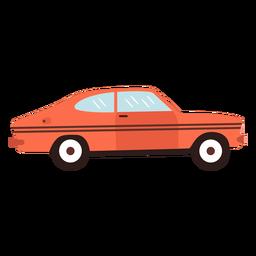 Viejo coche deportivo plano