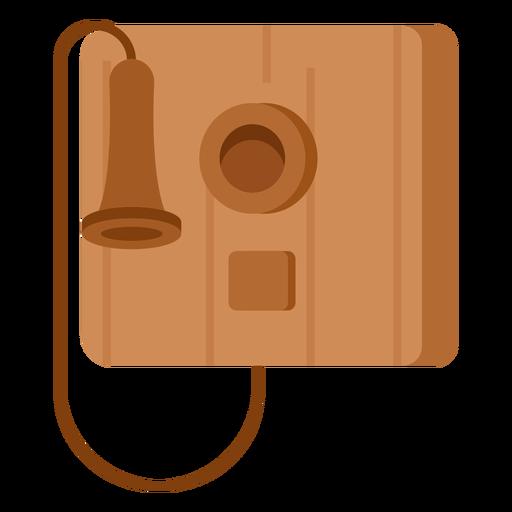 Ilustración de teléfono antiguo
