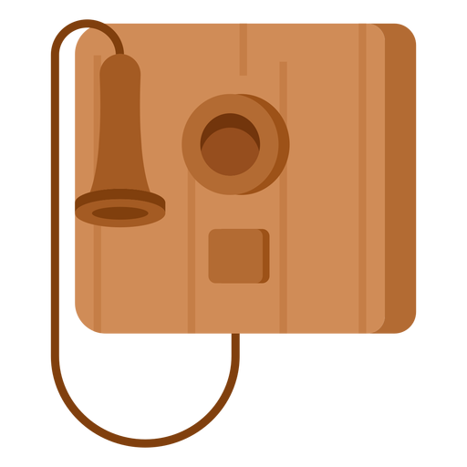Old telephone illustration Transparent PNG