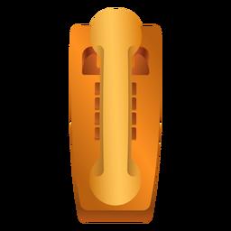 Ilustración de tubo de teléfono antiguo