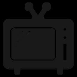 Viejo televisor negro
