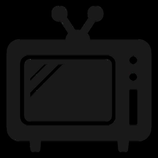 Old television black