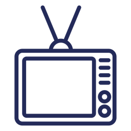 Viejo icono de trazo de televisión