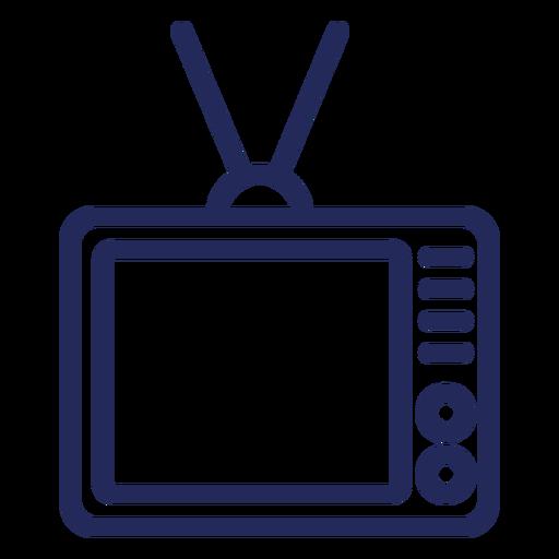 Old television stroke icon