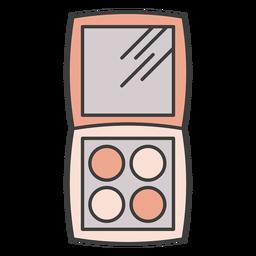 Palette eyeshadow illustration