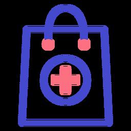 Ícone de traçado de saco de farmácia