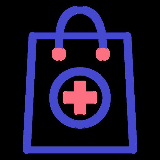 Icono de trazo de bolsa de farmacia