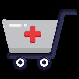 Ícone de carrinho de compras de farmácia