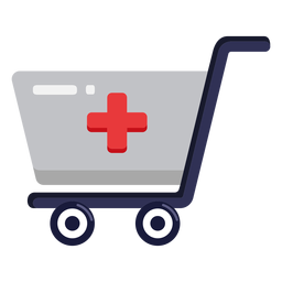 Pharmacy shopping cart icon