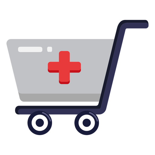 Icono de carrito de compras de farmacia