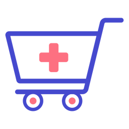 Pharmacy shopping cart stroke icon