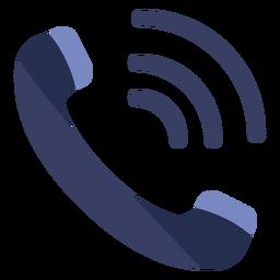 Icono plano de llamada telefónica