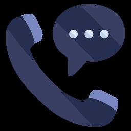 Icono plano de conversación telefónica
