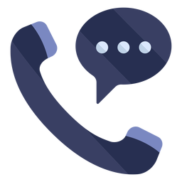 Phone conversation flat icon