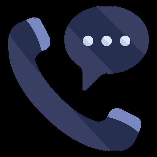 Phone conversation flat icon Transparent PNG