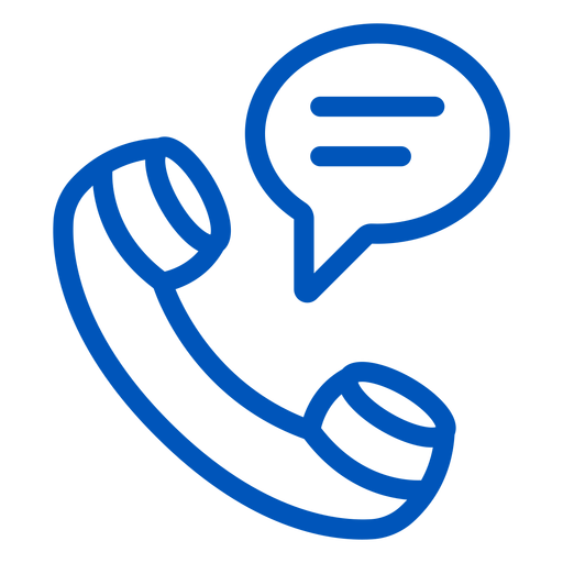Icono de trazo de conversación telefónica