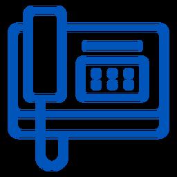 Icono de trazo del teléfono