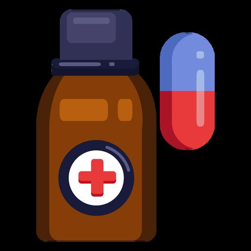 Píldoras de icono de botella de píldoras