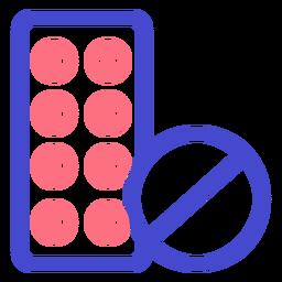 Icono de trazo de medicina píldoras