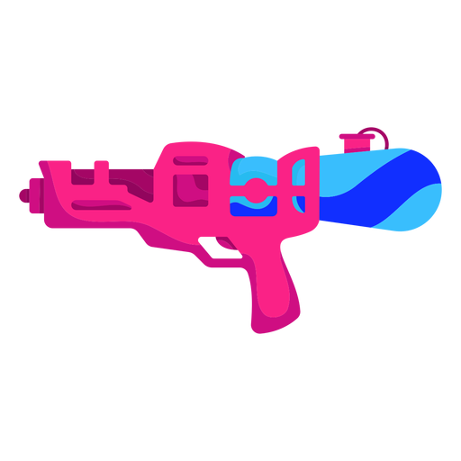 Pink water gun flat